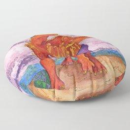 Beach Ball Dinosaur - Barney Floor Pillow