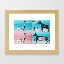 Walking Penny Framed Art Print