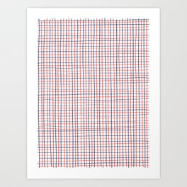 French Grid Art Print
