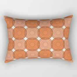 Red & Orange Circles Rectangular Pillow