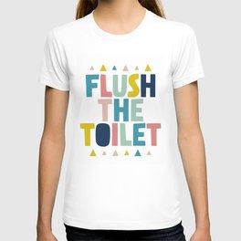 Flush the toilet bathroom print T-shirt