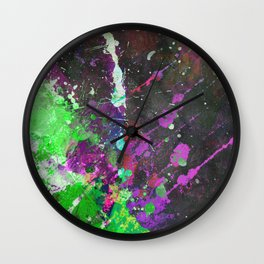 Breakthrough - Multi Coloured Abstract Textured Painting Wall Clock