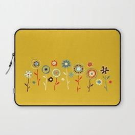 doodle flowers Laptop Sleeve