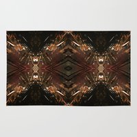 battlestar galactica Area & Throw Rugs featuring Galactica by Robin Curtiss