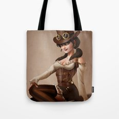 Steampunk pin-up girl Tote Bag