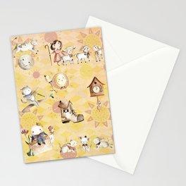 Lemon Nursery Rhyme Pattern Stationery Cards