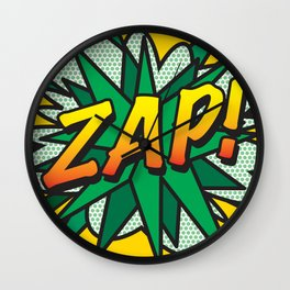 Comic Book ZAP! Wall Clock