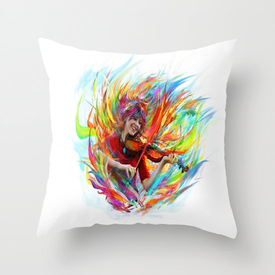 Lindsey Stirling Throw Pillow
