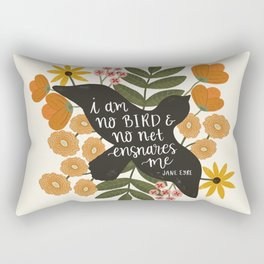 I Am No Bird Jane Eyre Quote Rectangular Pillow