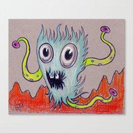 aqua fur-ocious Canvas Print