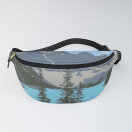 Moraine Lake- A Mountain Landscape Dream Fanny Pack