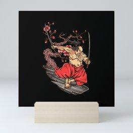 Japanese Samurai Warrior Gift Idea Design Mini Art Print