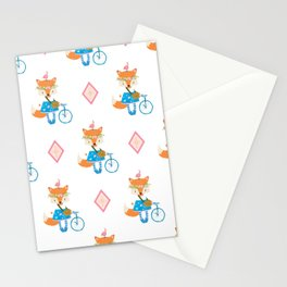 Girl Fox with Pink Diamond Stationery Cards