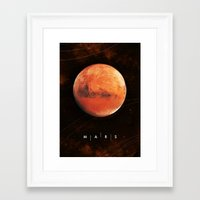 mars Framed Art Prints featuring MARS by Alexander Pohl
