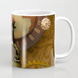 Cute steampunk giraffe with clocks and gears Coffee Mug