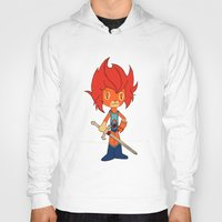 thundercats Hoodies featuring Lion-o by Christophe Chiozzi