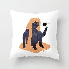 Space Girl 9 Throw Pillow