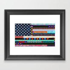 Boho America Framed Art Print