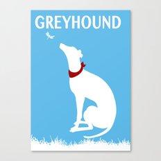 Greyhound Dog Admiring dragon fly Canvas Print