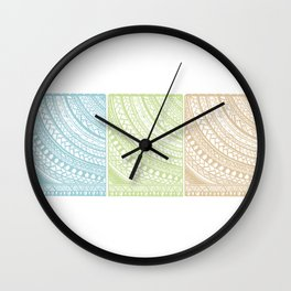 Weaved Elements I Wall Clock