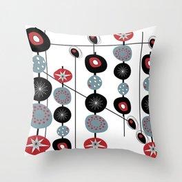Mid-Century Modern Art Atomic Cocktail Throw Pillow