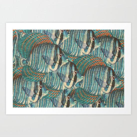 Crowd Fish 8 Art Print