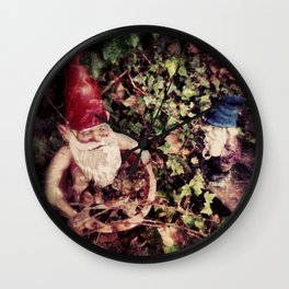 Hanging with my Gnomies Wall Clock
