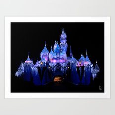 Sleeping Beauty's Winter Castle Art Print