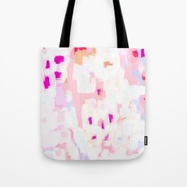 Netta - abstract painting pink pastel bright happy modern home office dorm college decor Tote Bag