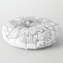 mandala004 Floor Pillow