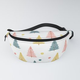 Neon Christmas Trees Fanny Pack