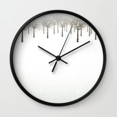 Winter Forest by Friztin Wall Clock