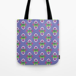 Folk - small composition on purple background Tote Bag