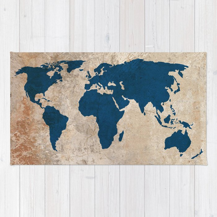 Rustic world map rug by bysamantha society6 rustic world map rug gumiabroncs Choice Image
