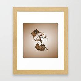 Steampunk Skeleton Framed Art Print