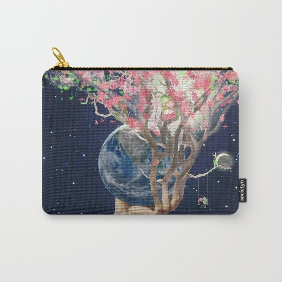 Love Makes The Earth Bloom Carry-All Pouch