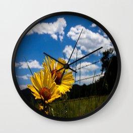 A Rocky Mountain Sunflower Wall Clock