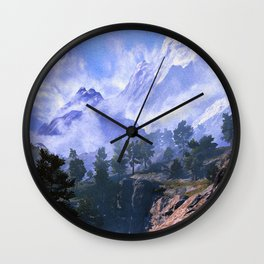 Our beloved mountains Wall Clock