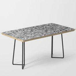 Black and White Mandala Pattern 012 Coffee Table