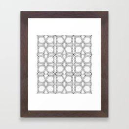 Poplar wood fibre walls electron microscopy pattern Framed Art Print