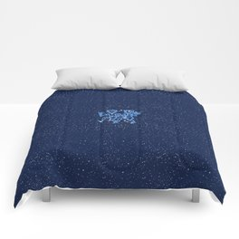 Gemini Constellation and Zodiac Sign with Stars Comforters