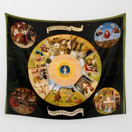 The Seven Deadly Sins and The Four Last Things Wall Tapestry