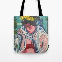 Sad Veil Bride Tote Bag