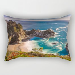 McWay Cove Spring Bloom, Big Sur Rectangular Pillow