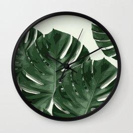 Monstera_Le_1 Wall Clock