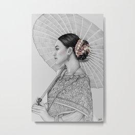 Thai Woman Metal Print