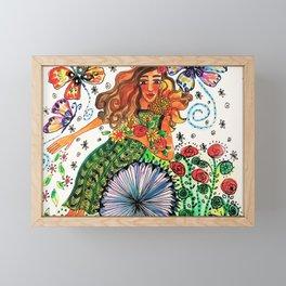 Persephone in Her Garden Framed Mini Art Print