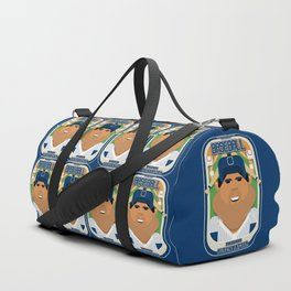 Baseball Blue Pinstripes - Rhubarb Pitchbatter - Seba version Duffle Bag