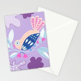 Kids collection - birds in a garden paradise Stationery Cards