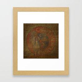 Antique Grain Sack Framed Art Print